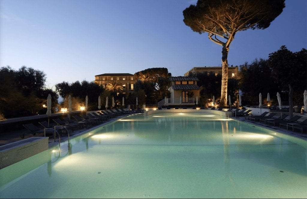 swimming pool in hotel excelsior vittoria