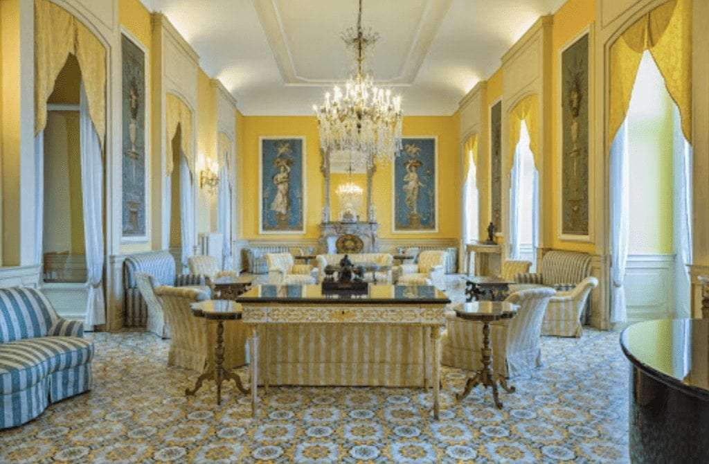 sitting room in the imperial hotel tramontano