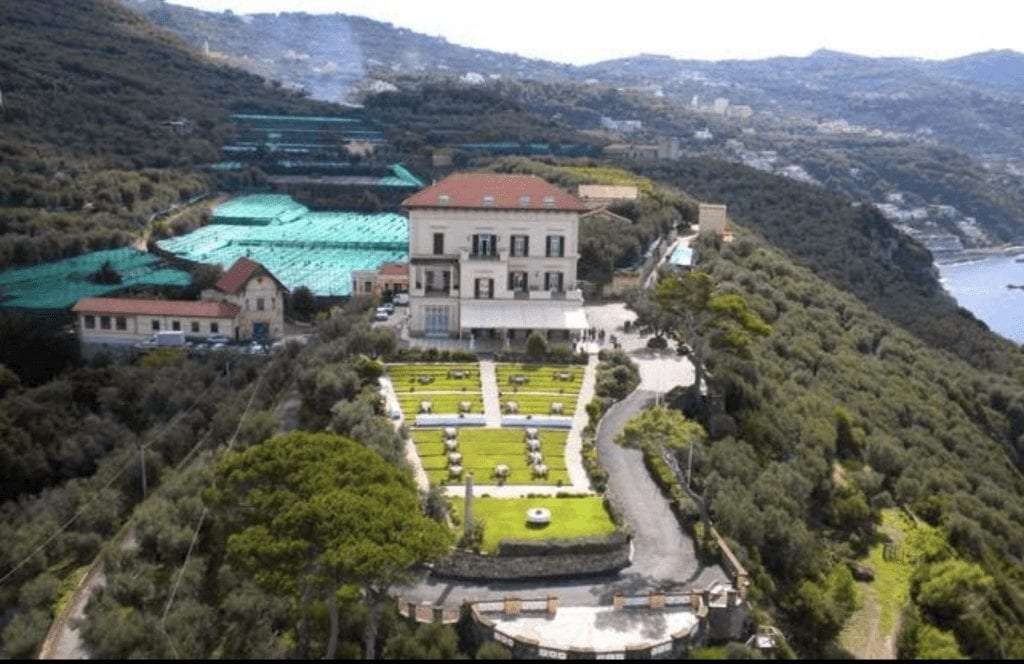 View of Villa Angelina from the above.