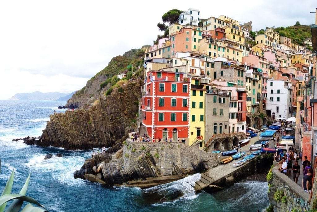 colorful houses perched in the Cinque Terre