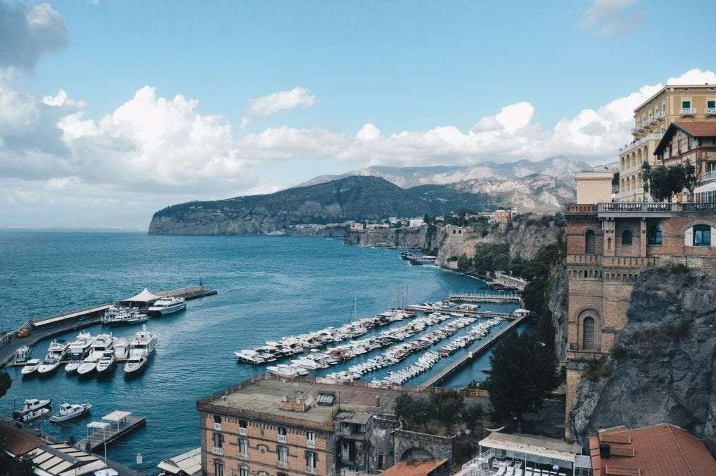 View of Sorrento from a terrace.