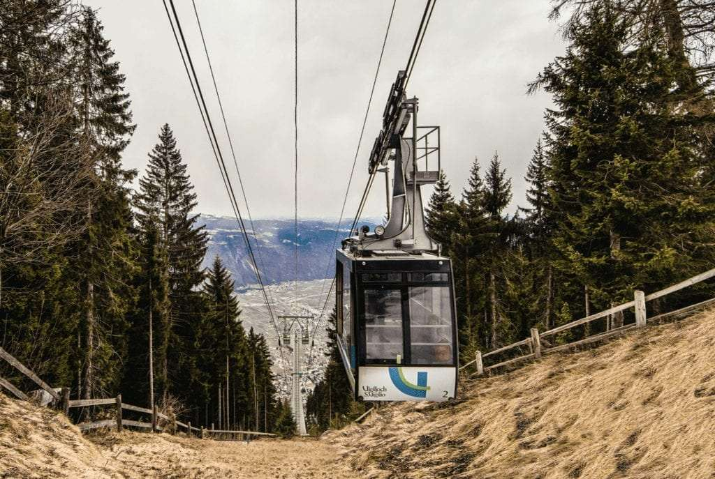 cable car in South Tyrol