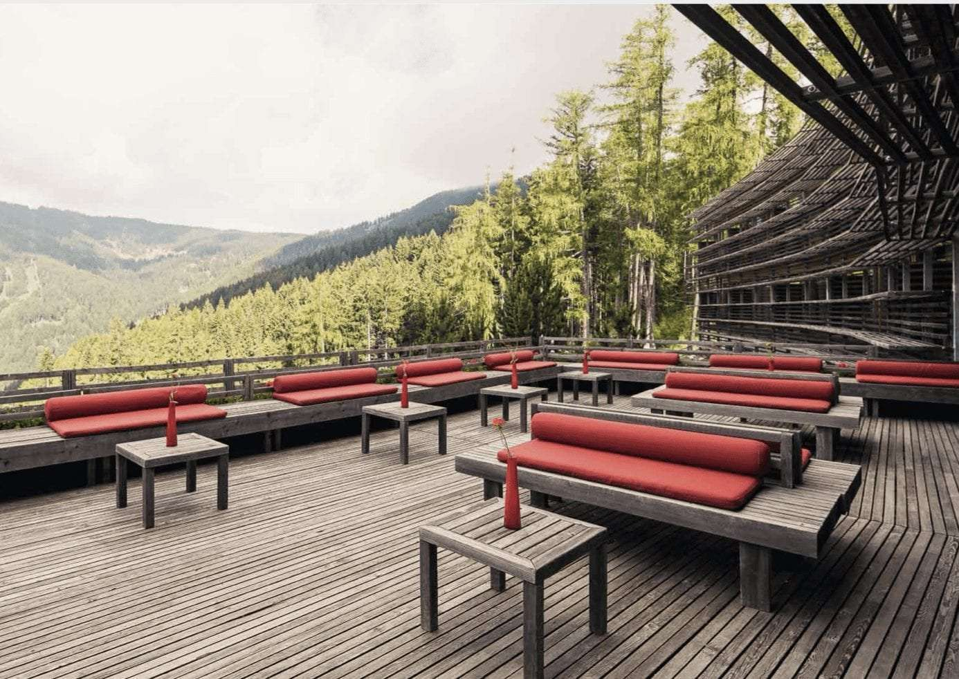 Vigilius hotel outdoor view on the forest