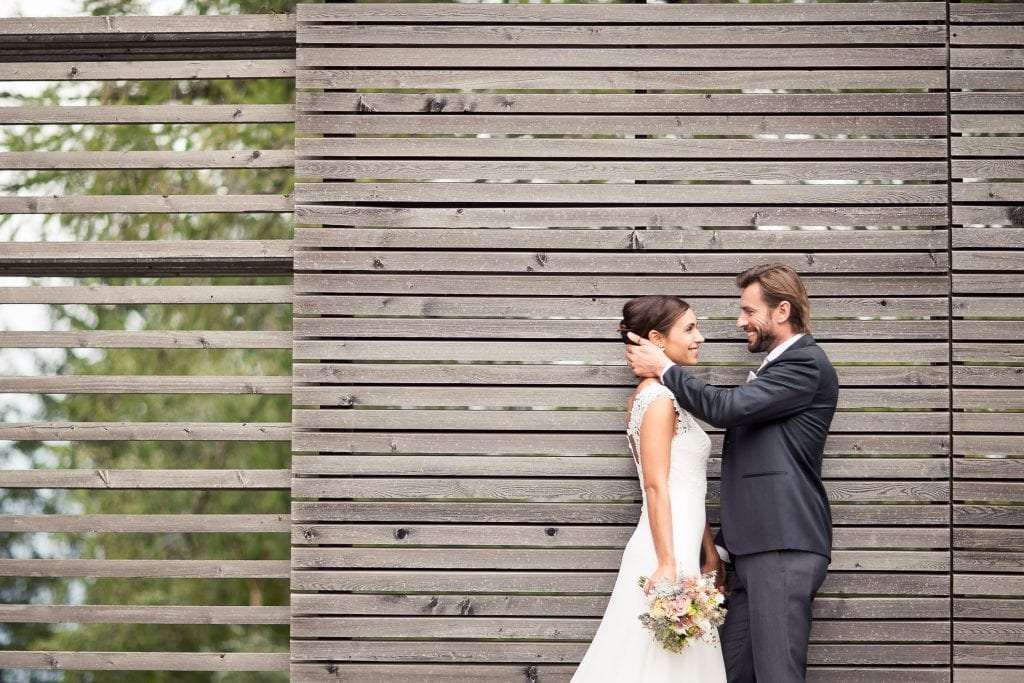 newlywed couple after the ceremony in South Tyrol