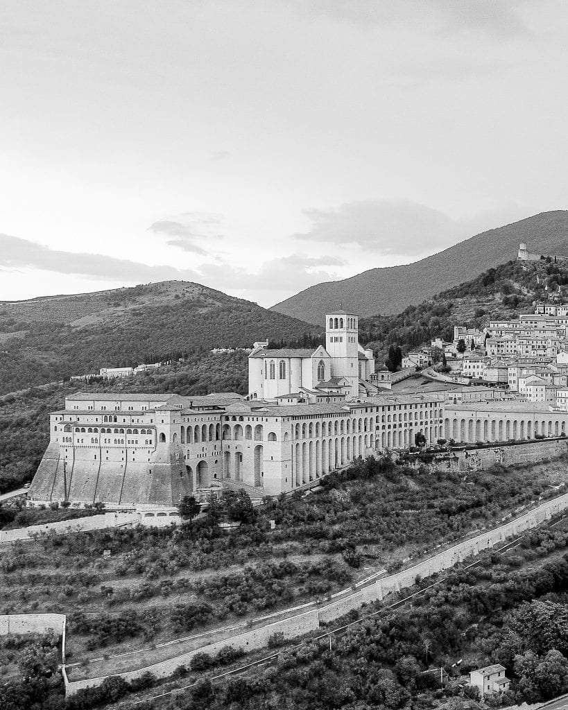 View of the entire Borgo of Assisi