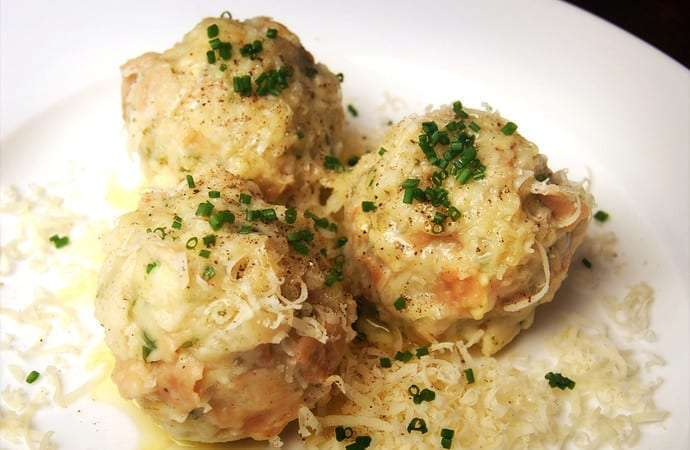 Typical Knödel of South Tyrol