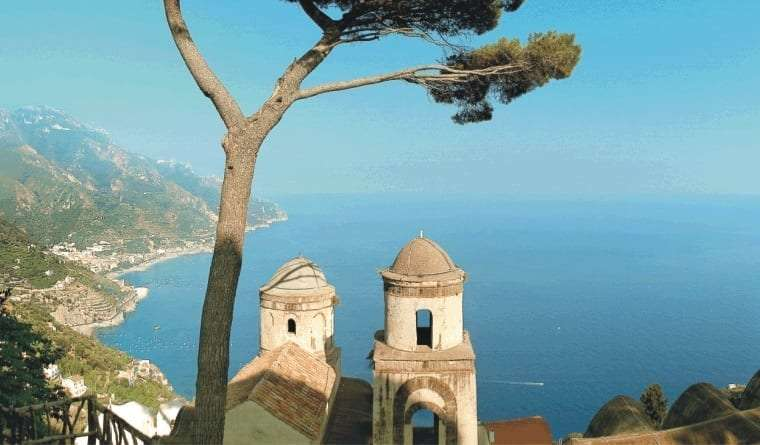 View of Ravello from the mountain.