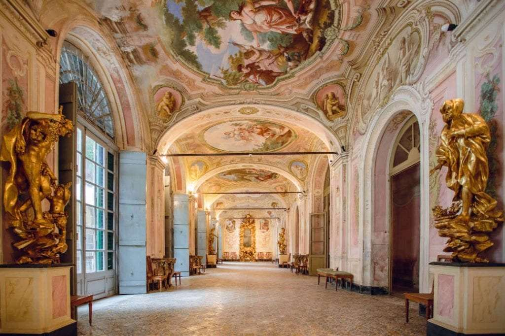 frescoes on the walls and ceiling