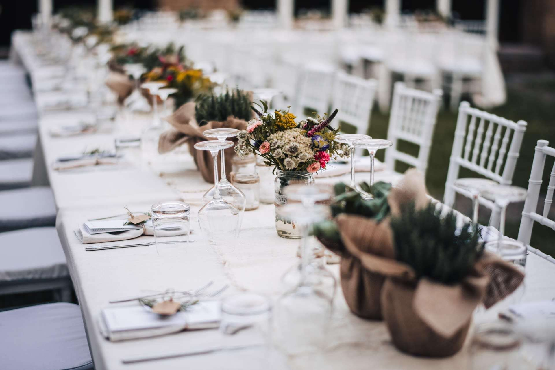 flower composition for a wedding package