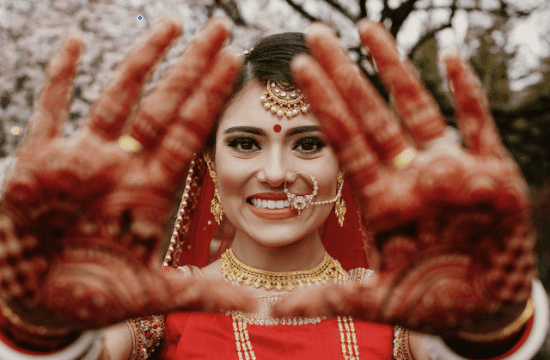 Indian bride during a destination wedding in Italy.