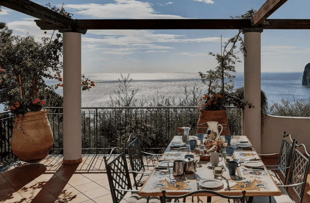 terrace in Amalfi Coast during a private wedding ceremony
