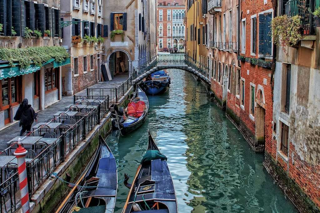Typical Calle in Venice